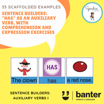 """Sentence builders: """"Has"""" as an auxiliary verb"""