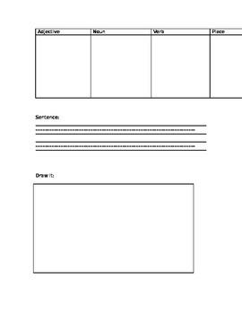 Sentence building: Sort, write, draw