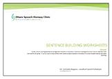 Sentence building worksheets- level 1