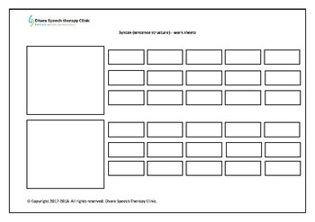Sentence building worksheets- level 1