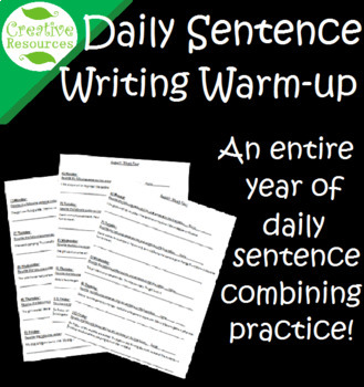 Sentence combining daily warm-up writing practice