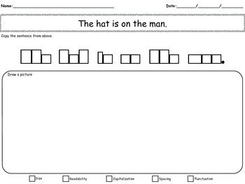 Sentence copying with Blocks