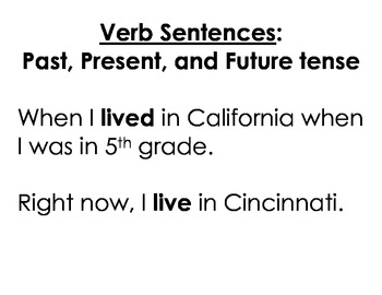 "Sentence fill-in: The Verb ""to be"""