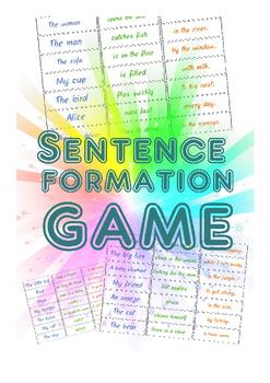 Sentence formation game