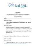 Sentence fragments and run-on sentences humorous exercises