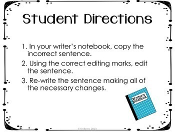 Sentence of the Day: A CCSS Daily Sentence Editing Tool for the YEAR
