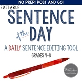 Sentence of the Day: CCSS Daily Sentence Editing Tool for the YEAR (EDITABLE)