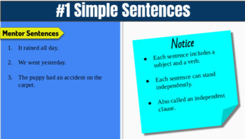 Sentence of the Week Digital Portfolio Template FREE