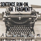 Sentence or Fragment? A Prezi or PowerPoint Activity #1
