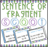 Sentence or Fragment? SCOOT! Game, Task Cards or Assessment- Distance Learning