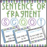 Sentence or Fragment? SCOOT! Game, Task Cards or Assessmen