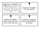 Sentence or Fragment? Task Cards