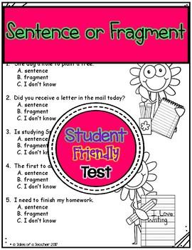 Sentence or Fragment Test