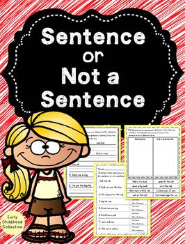 Sentence or Not a Sentence {Fragment}