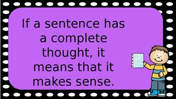 Sentence or Not a Sentence?- Complete Thought