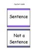 Sentence or Not a Sentence Cup Sort