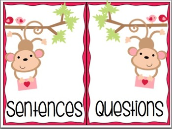Sentence or Question: A Valentine's Activity