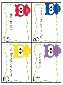 Sentence or Question? An Owl Theme Literacy Activity