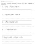 Sentence order Spanish