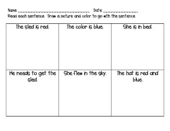 Sentence reading and illustrate