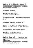 Sentence starters for Journal writing