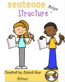 Sentence structure strip