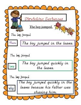 Fall Sentence Building (Hochman Writing Inspired)