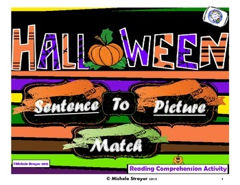 Sentence to Picture Match:  Halloween