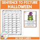 Sentence to Picture Match Task Cards Halloween Set