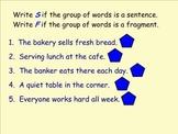 Sentence vs. Fragments FREEBIE