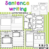 Sentence writing prompts (differentiated)