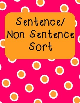 Sentence/Non Sentence Sort