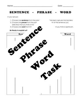 Sentence.Phrase.Word Reading Task