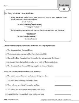 Sentences 06: Simple Predicates