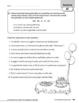 Sentences 07: Simple Sentences & Coordinating Conjunctions