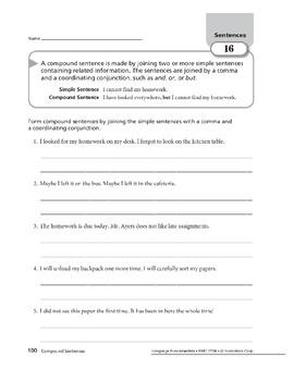 Sentences 08: Compound Sentences