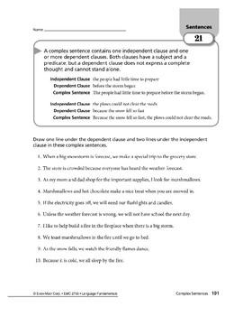 Sentences 09: Complex Sentences
