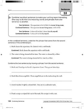 Sentences 10: Combining Sentences