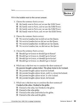 Sentences 10: Sentence Review