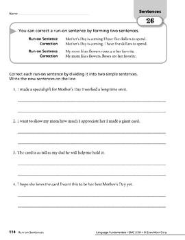 Sentences 11: Run-on Sentences