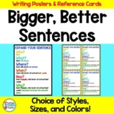 Expanding Sentences Posters and Student Reference Cards DO