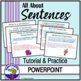Sentences: All About Sentences PowerPoint TEST PREP