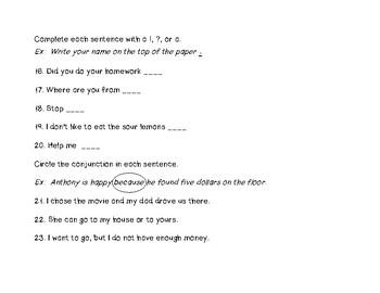Sentences Assessment