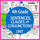Sentences, Clauses, Conjunctions–4th Grade Language Unit & Essay Writing Project