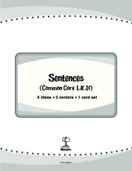 Sentences (Common Core L.K.1f)