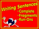 Sentences - Complete, Fragment and Run-ons