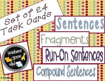 Sentences, Compound Sentences, Fragments, and Run-On Sente