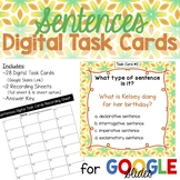 Sentences Digital Task Cards- Google Slides