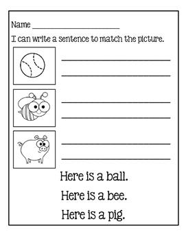 Sentences For Beginners ~ Worksheets