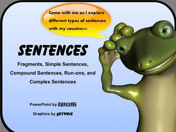 Sentences, Fragments, Run-Ons PowerPoint with EXTRAS!